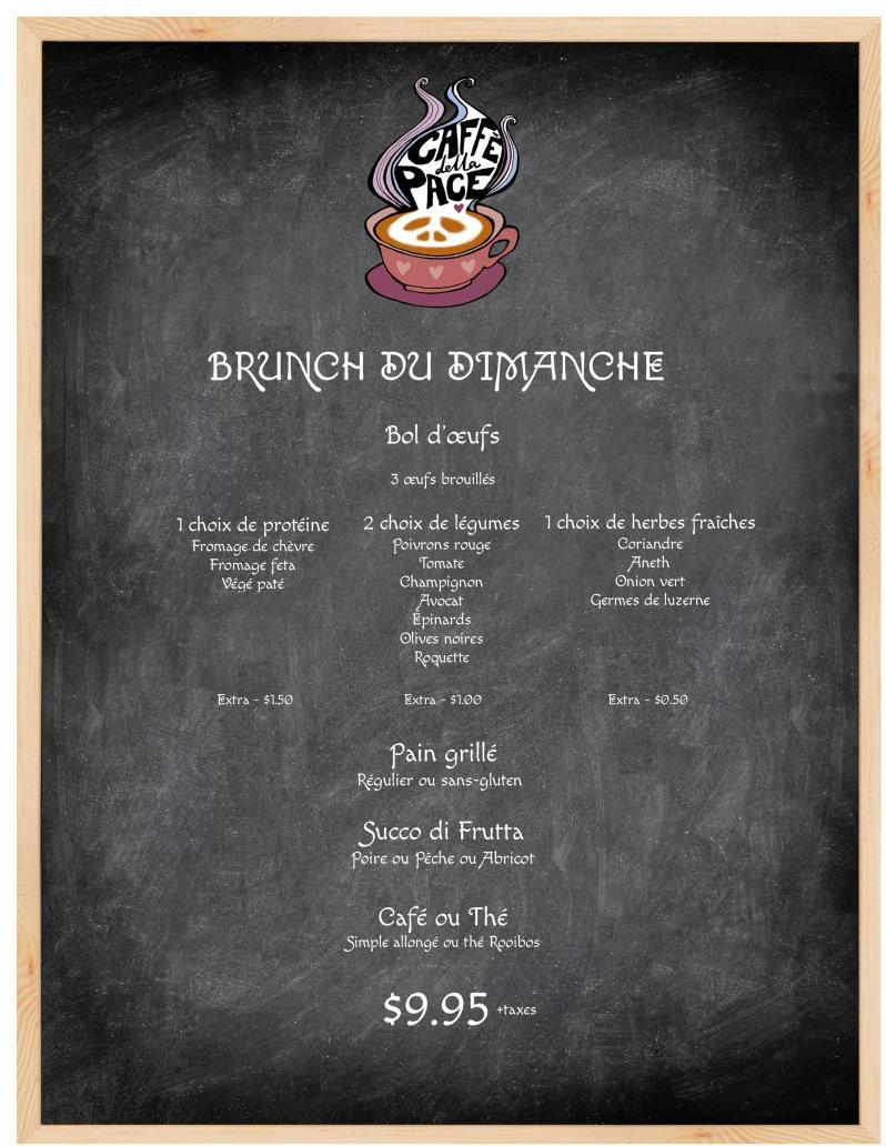New Brunch Menu PDF FR